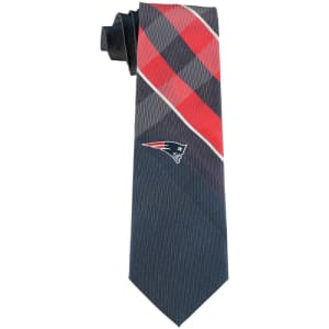 New England Patriots Woven Poly Grid Tie