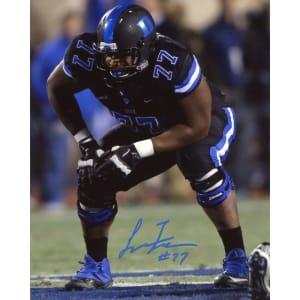 """Laken Tomlinson Duke Blue Devils Fanatics Authentic Autographed 8"""" x 10"""" Black Stance Photograph"""