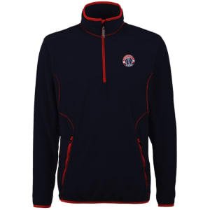 Washington Wizards Antigua Ice Quarter Zip Lightweight Pullover Jacket - Navy