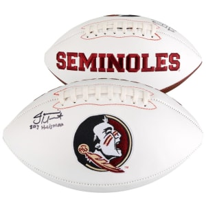 "Jameis Winston Florida State Seminoles (FSU) Fanatics Authentic Autographed White Panel Football with ""2013 Heisman"" Inscription"