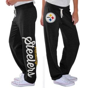 Pittsburgh Steelers G-III 4Her by Carl Banks Women's Scrimmage Fleece Pants - Black