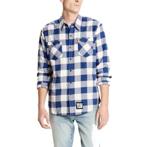 New York Giants Levi's Barstow Western Long Sleeve Button-Up Shirt - Royal