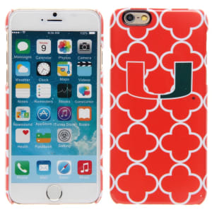 Miami Hurricanes Team Logo Tribal and Links iPhone 6 Case