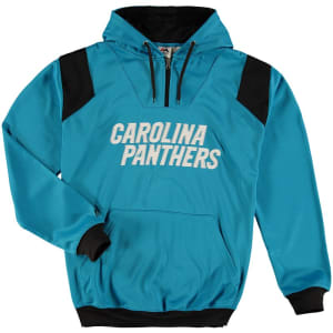 Carolina Panthers Majestic Big & Tall 1/4-Zip Pullover Hoodie - Blue