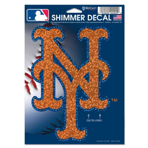 """New York Mets WinCraft 5"""" x 7"""" Shimmer Decal"""