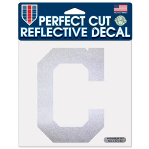 "Cleveland Indians WinCraft 6"" x 6"" Reflective Perfect Cut Decal"