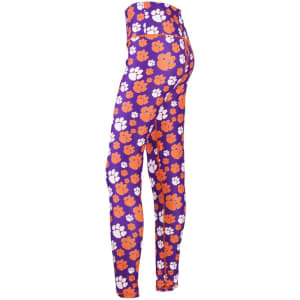 Clemson Tigers ZooZatz Women's Stacked Mascot Leggings - Multi