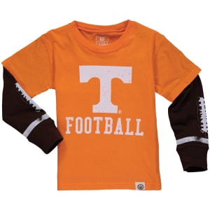 Tennessee Volunteers Wes & Willy Toddler Football Fooler Long Sleeve T-Shirt - Tennessee Orange