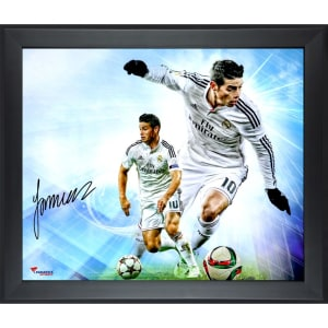 James Rodriguez Real Madrid Fanatics Authentic Framed Autographed 20'' x 24'' In Focus Photograph- #2-9, 11-49 of a Limited Edition of 50