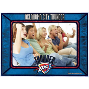 Oklahoma City Thunder Horizontal Art Glass Frame