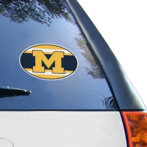 Michigan Wolverines 6'' x 6'' Super Stripe Die-Cut Repositionable Vinyl Decal