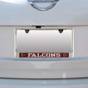 Atlanta Falcons Chevron Bottom Only Metal Acrylic Cut License Plate Frame