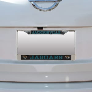 Jacksonville Jaguars Carbon Small Over Large Metal Acrylic Cut License Plate Frame