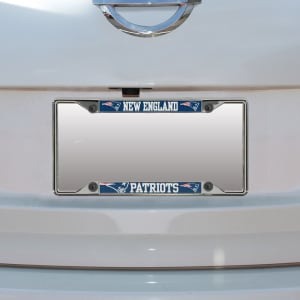 New England Patriots Small Over Small Mega License Plate Frame