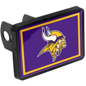 "Minnesota Vikings Logo 1.25"" x 2"" Universal Plastic Hitch Cover"