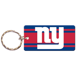 New York Giants Super Stripe Printed Acrylic Team Color Logo Keychain