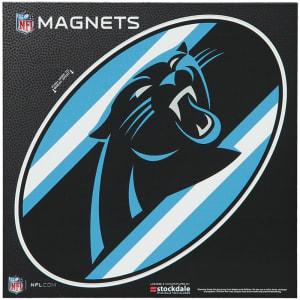 "Carolina Panthers Stripe 6"" x 6"" Oval Full Color Magnet"