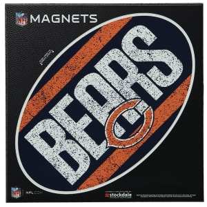 "Chicago Bears Vintage 6"" x 6"" Oval Full Color Magnet"