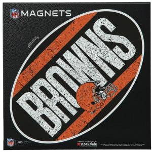 """Cleveland Browns Vintage 6"""" x 6"""" Oval Full Color Magnet"""