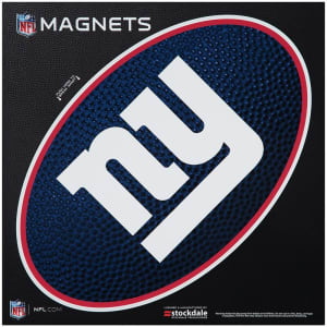 """New York Giants Teamball 12"""" x 12"""" Oval Full Color Magnet"""