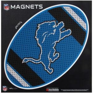 "Detroit Lions Jersey 12"" x 12"" Oval Full Color Magnet"