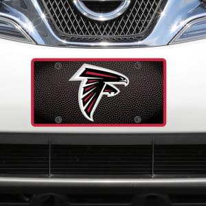 Atlanta Falcons Teamball Acrylic Cut License Plate