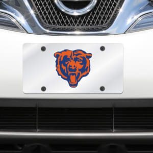 Chicago Bears Mirror License Plate With Laser Cut Acrylic Logo