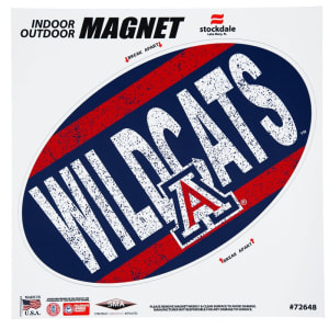 """Arizona Wildcats Vintage 12"""" x 12"""" Oval Full Color Magnet"""