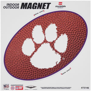 "Clemson Tigers Teamball 12"" x 12"" Oval Full Color Magnet"