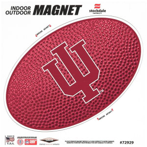 "Indiana Hoosiers Teamball 12"" x 12"" Oval Full Color Magnet"