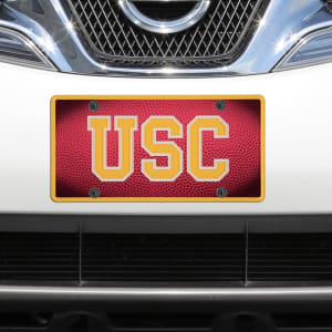 USC Trojans Team Ball Acrylic Laser-Cut License Plate