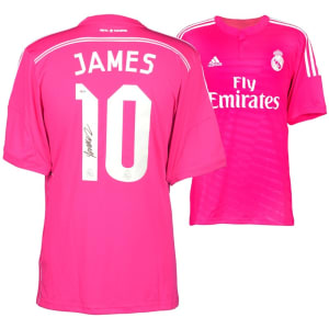 James Rodriguez Real Madrid Fanatics Authentic Autographed Pink Jersey