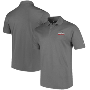 Texas Tech Red Raiders Under Armour Solid Performance Polo - Charcoal