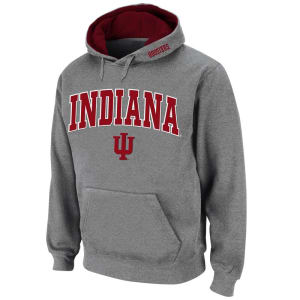 Indiana Hoosiers Stadium Athletic Arch & Logo Pullover Hoodie - Gray