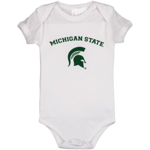 Michigan State Spartans Infant Arch & Logo Bodysuit - White