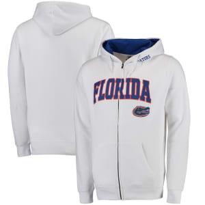 Florida Gators Stadium Athletic Arch & Logo Full Zip Hoodie - White