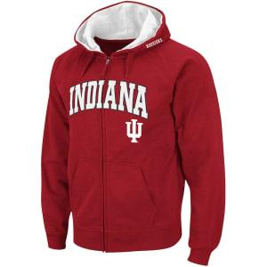 Indiana Hoosiers Stadium Athletic Arch & Logo Full Zip Hoodie - Crimson