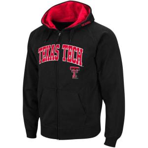 Texas Tech Red Raiders Stadium Athletic Arch & Logo Full Zip Hoodie - Black