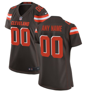 Cleveland Browns Nike Women's Custom Game Jersey - Brown