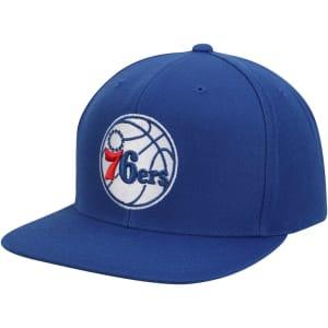 Philadelphia 76ers Mitchell & Ness Current Logo Wool Solid Snapback Adjustable Hat - Royal