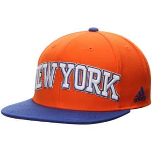 New York Knicks adidas On Court Snapback Adjustable Hat - Orange/Blue