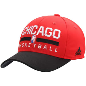 Chicago Bulls adidas 2Tone Practice Structured Adjustable Hat - Red/Black