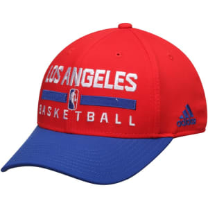 LA Clippers adidas 2Tone Practice Structured Adjustable Hat - Red