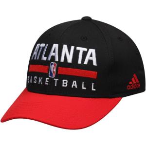 Atlanta Hawks adidas 2Tone Practice Structured Adjustable Hat - Black