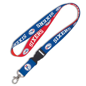 Philadelphia 76ers WinCraft Wordmark Lanyard with Detachable Buckle -