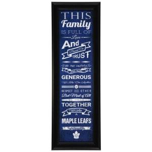 "Toronto Maple Leafs 8"" x 24"" Crackle Family Cheer Framed Art"