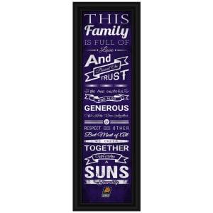 Phoenix Suns Crackle Family Cheer Framed Art