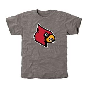 Louisville Cardinals Classic Primary Tri-Blend T-Shirt - Ash