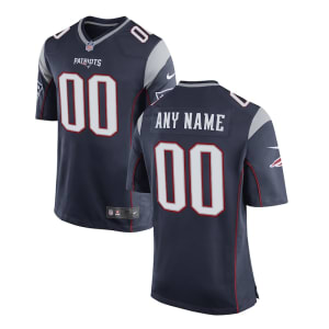 Youth New England Patriots Nike Navy Customized Game Jersey