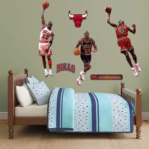 Michael Jordan Chicago Bulls Fathead Real Big Peel and Stick Hero Pack Wall Graphic